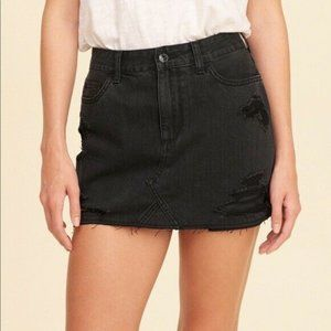 Hollister  Distressed Ultra High-Rise Mini Skirt